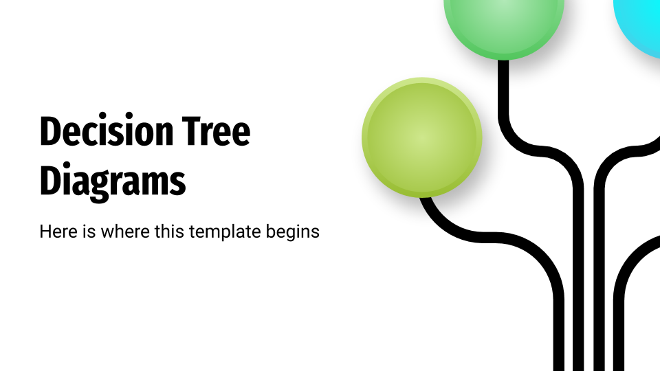 Decision Tree Diagrams presentation template