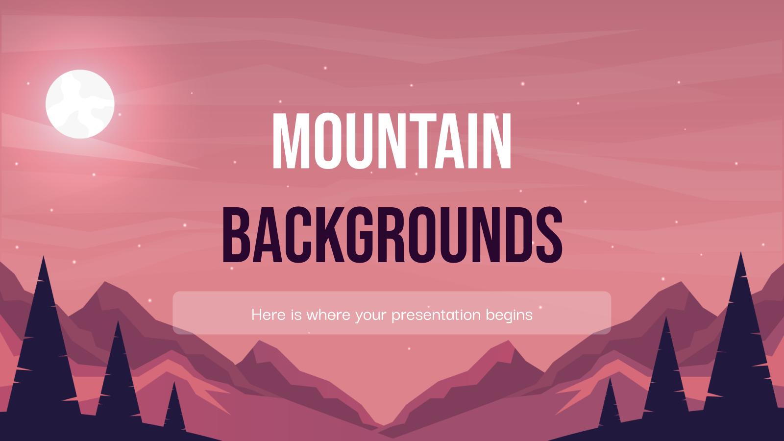 Plantilla de presentación Fondos de montaña