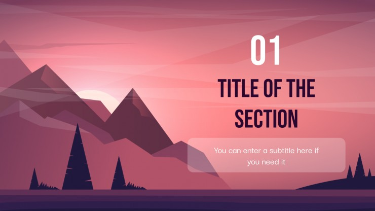 Mountain Backgrounds presentation template