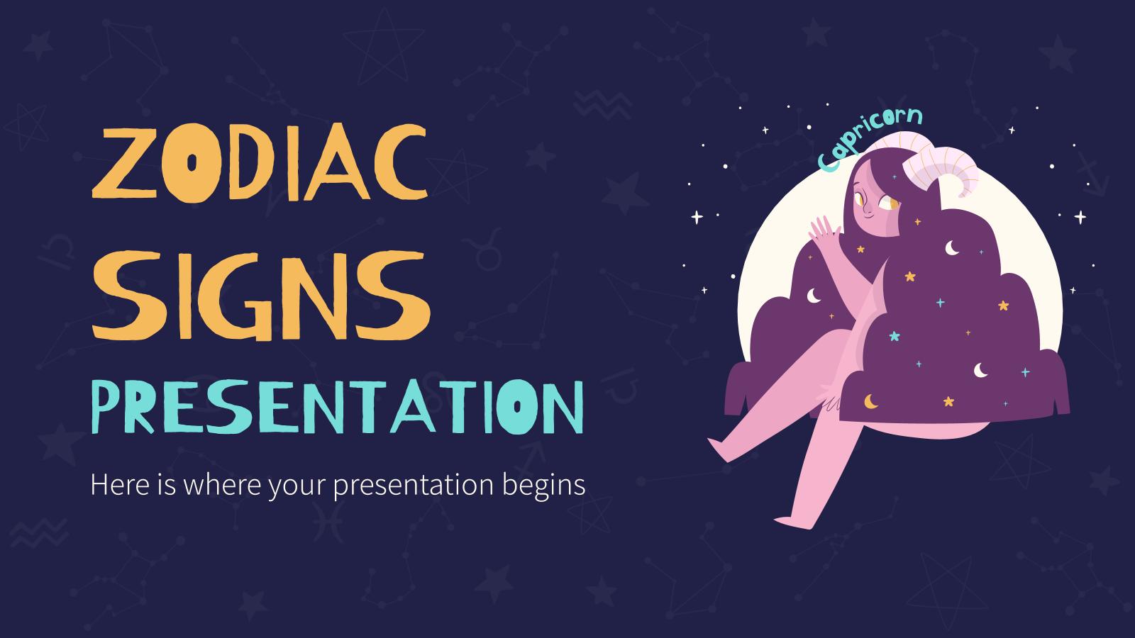 Zodiac Signs presentation template