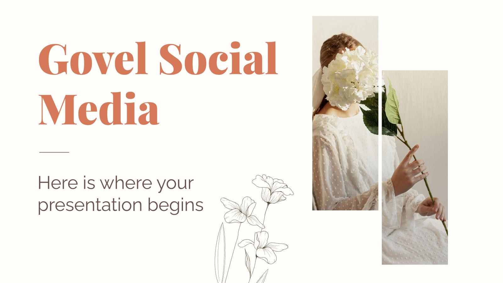 Modelo de apresentação Mídia social Govel