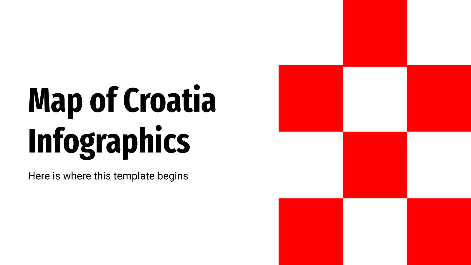 Map of Croatia Infographics presentation template