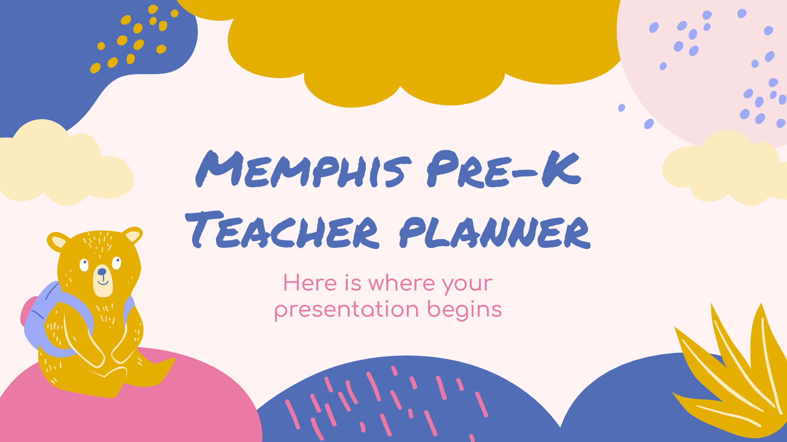 Memphis Pre-K Teacher Planner presentation template