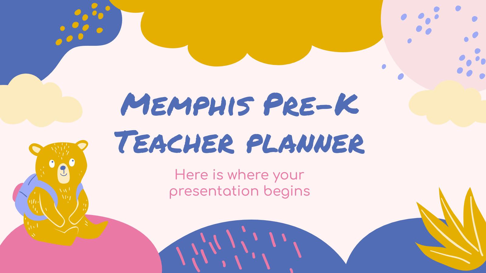 Memphis Pre-K Teacher Planner presentation template