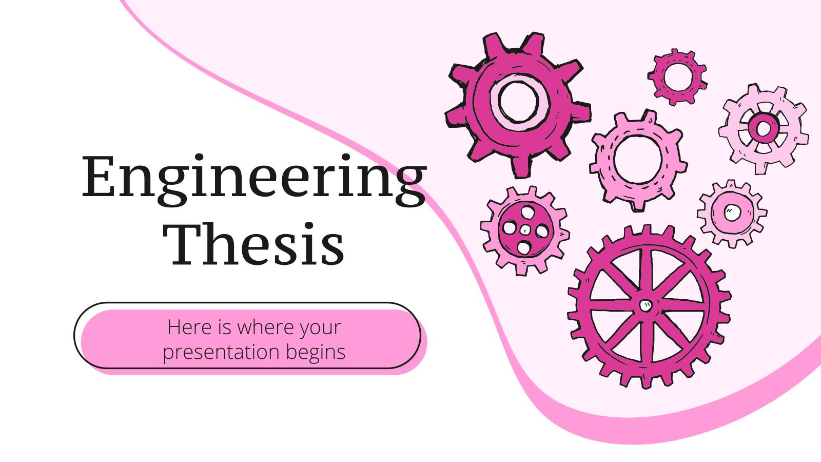 Plantilla de presentación Tesis de ingeniería