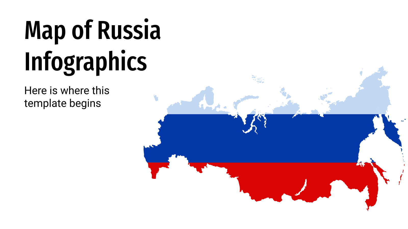 Map of Russia Infographics presentation template