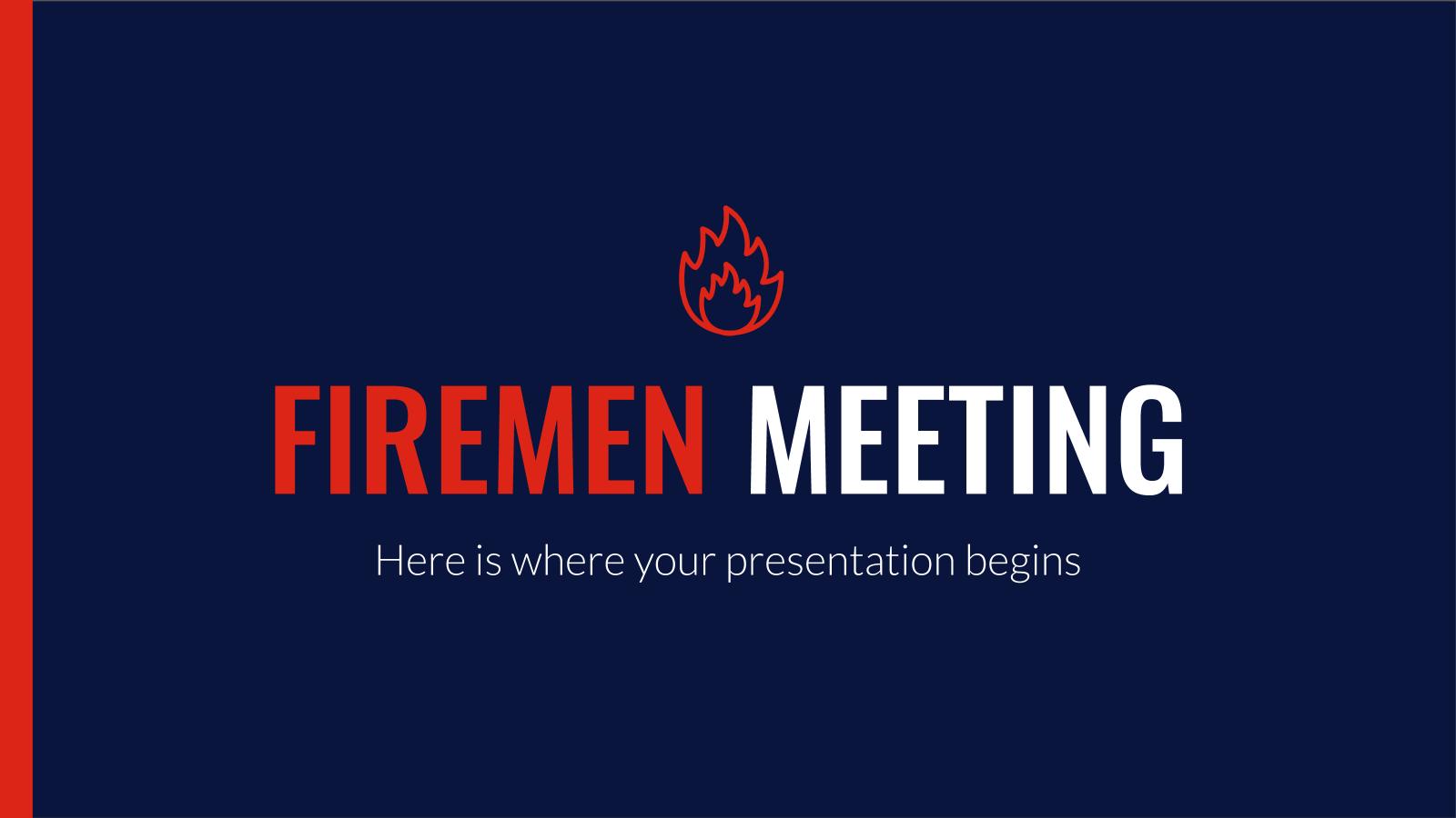 Firemen Meeting presentation template