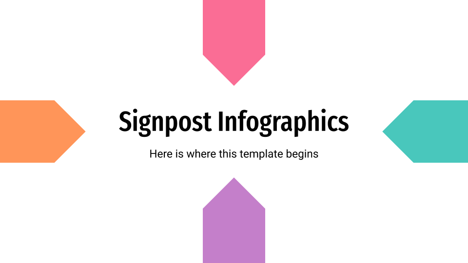 Signpost Infographics presentation template