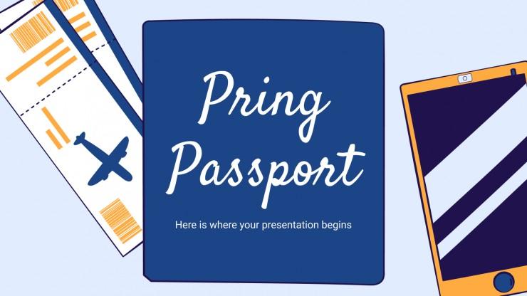 Modelo de apresentação Passaporte Pring