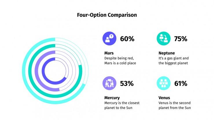 Plantilla de presentación Infografías comparativas