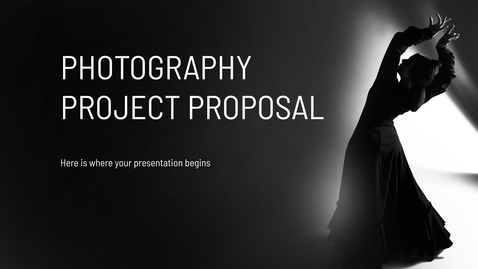 Modelo de apresentação Proposta de projeto fotográfico