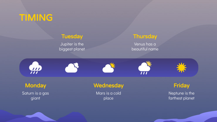 Weather App Pitch Deck presentation template