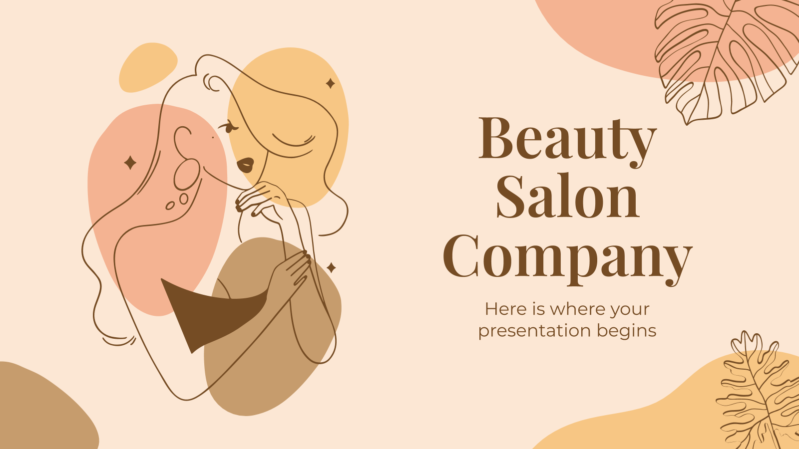 Beauty Salon Company presentation template