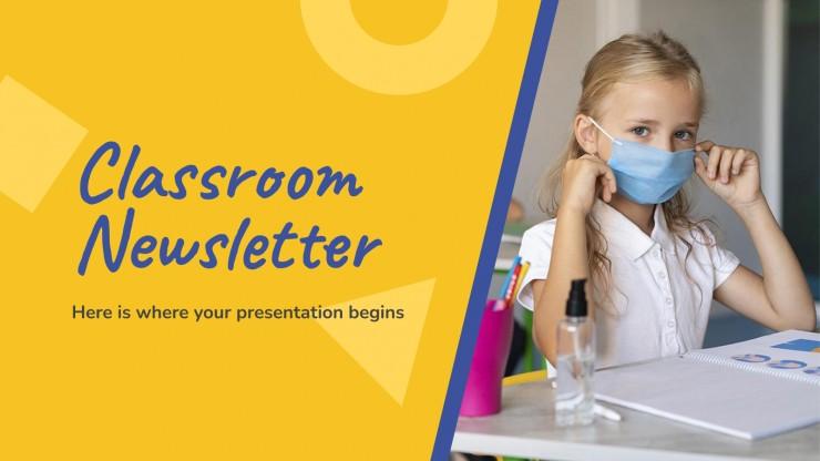Newsletter pour la classe : Modèles de présentation