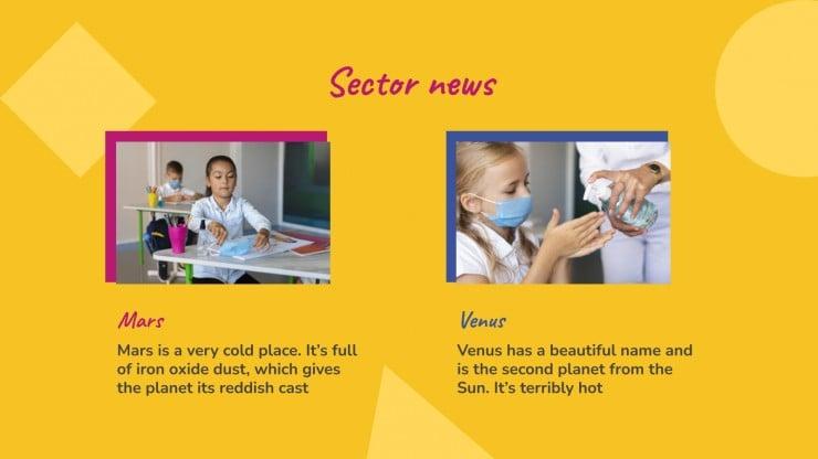 Modelo de apresentação Newsletter da classe