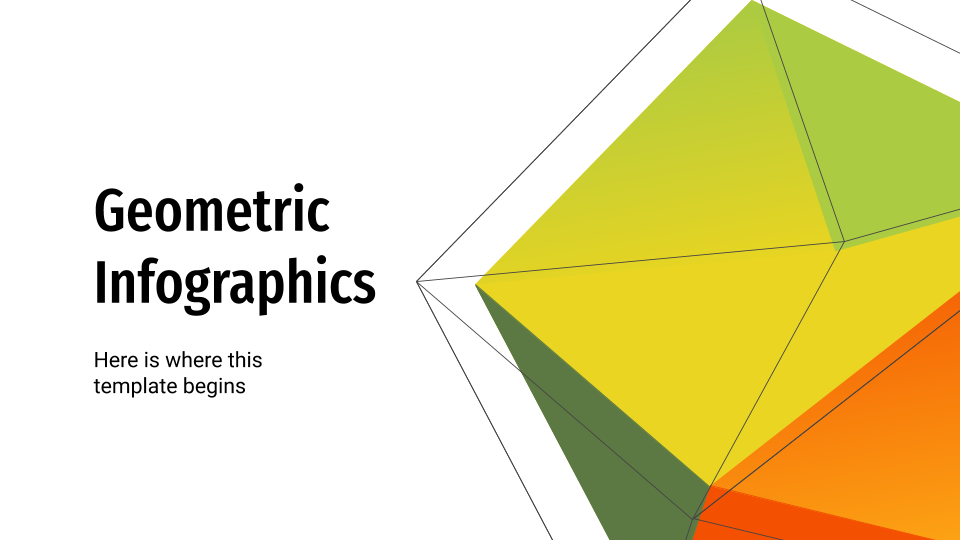 Geometric Infographics presentation template