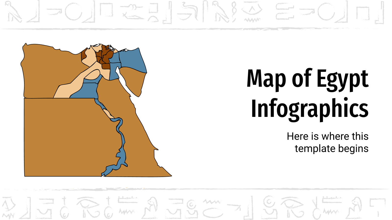 Map of Egypt Infographics presentation template