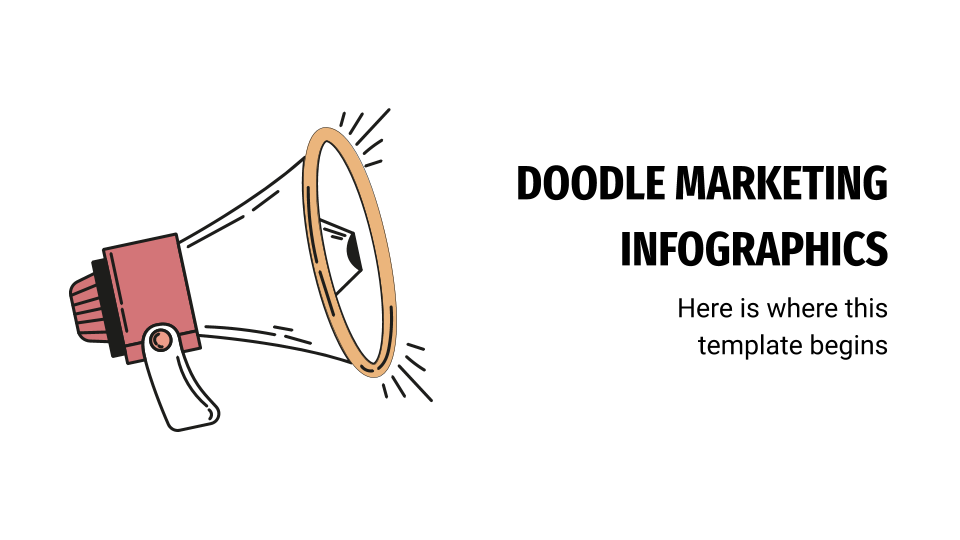 Doodle Marketing Infographics presentation template