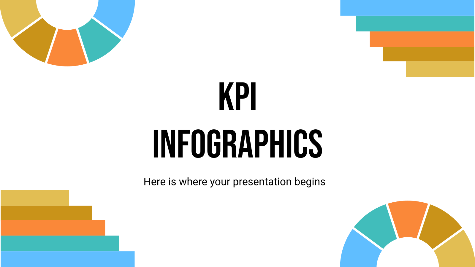 KPI Infographics presentation template