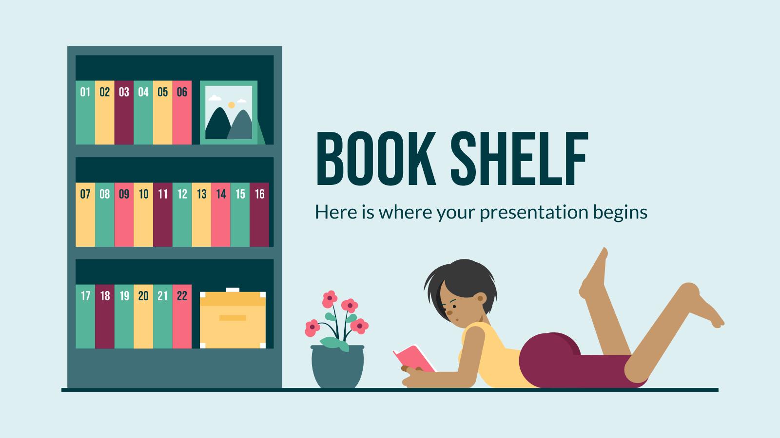 Plantilla de presentación Estantería de libros