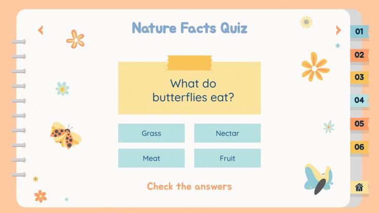 Plantilla de presentación Actividades educativas de naturaleza