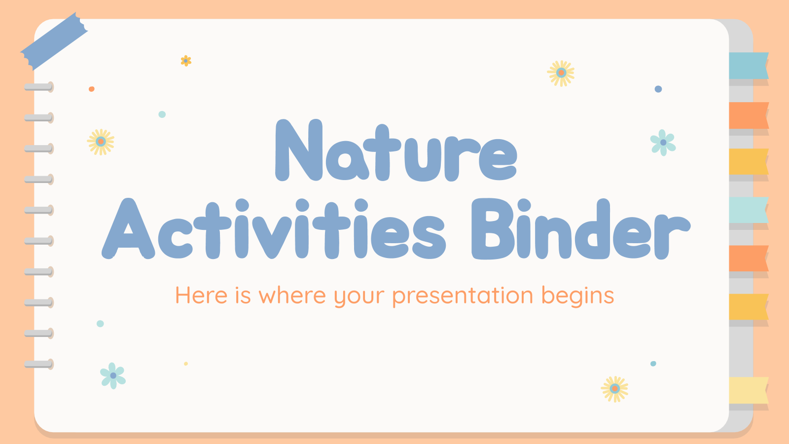 Nature Activities Binder presentation template