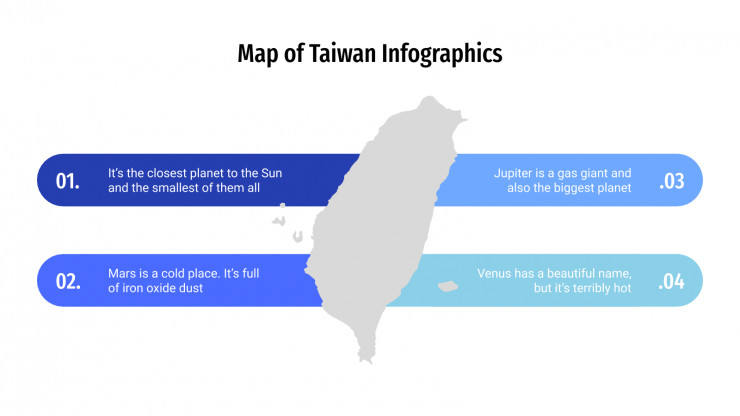 Infographies de carte de Taïwan : Modèles de présentation
