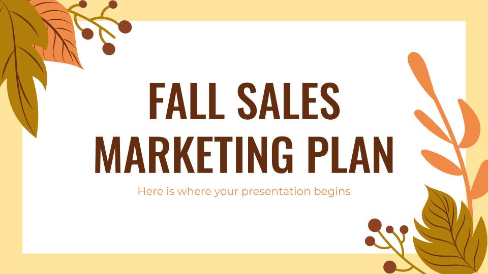 Modelo de apresentação Plano de marketing da liquidação de outono