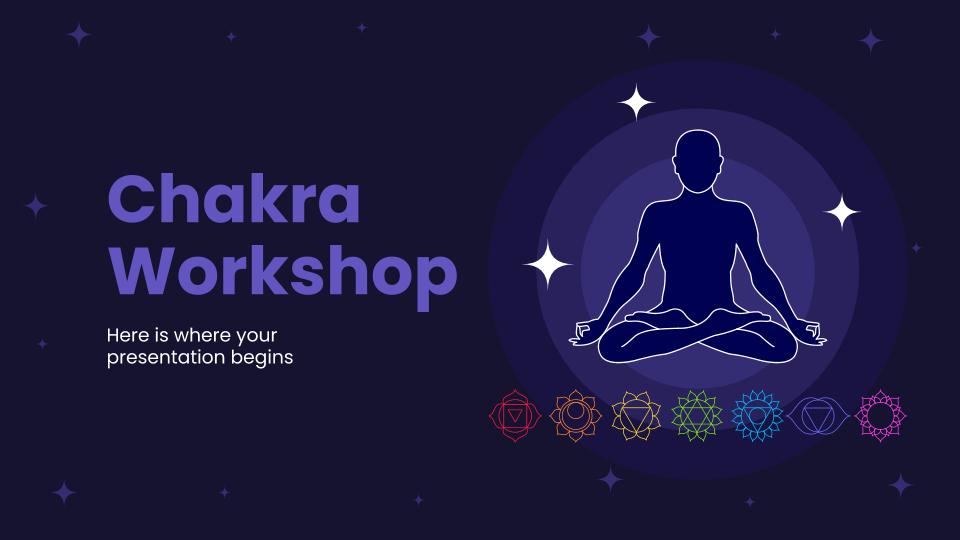 Modelo de apresentação Workshop de chakras
