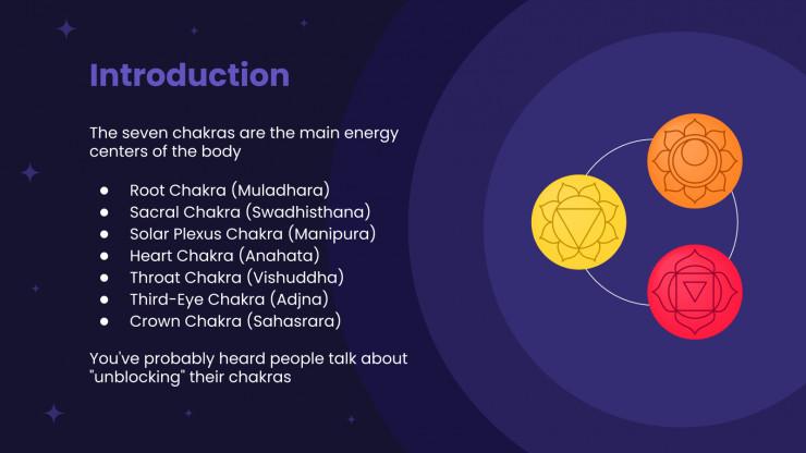Plantilla de presentación Taller de chakras