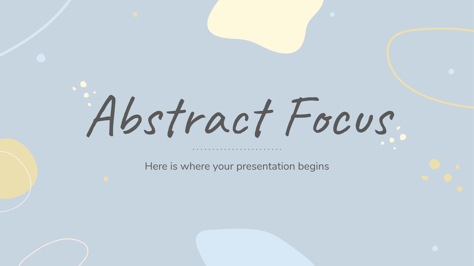 Modelo de apresentação Enfoque abstrato