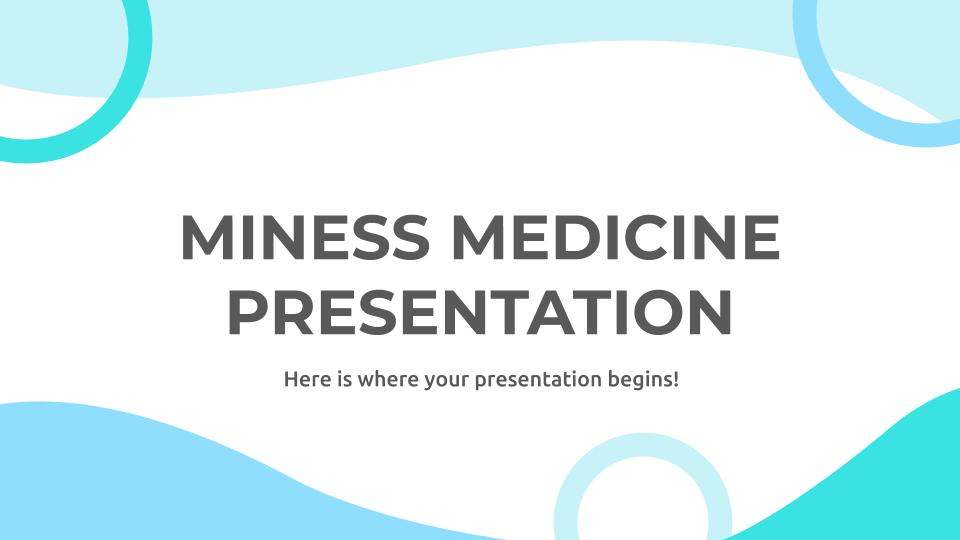 Plantilla de presentación Medicina Miness