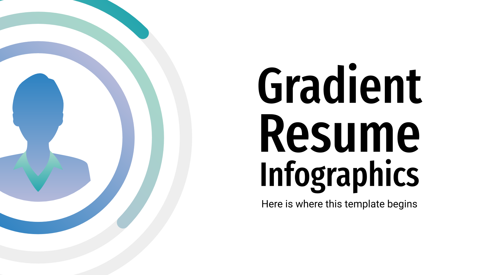 Gradient Resume Infographics presentation template