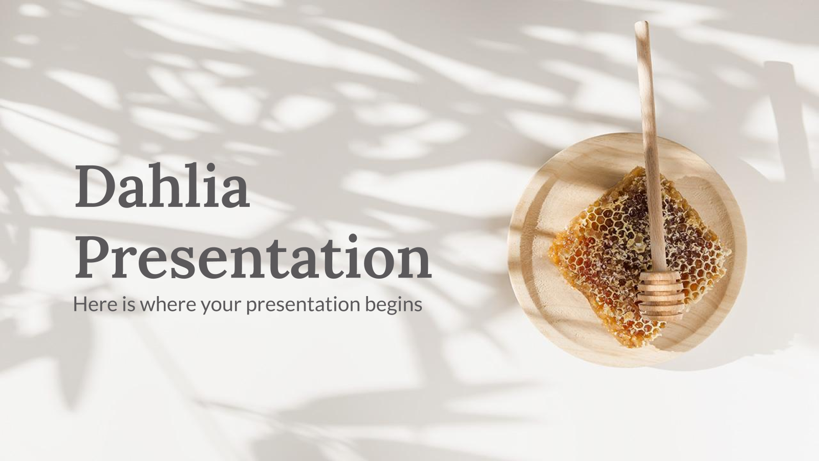 Dahlia presentation template