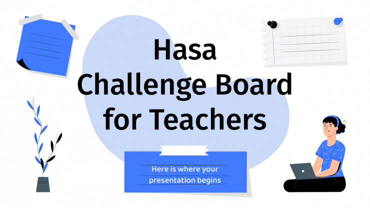 Hasa Challenge Board for Teachers presentation template