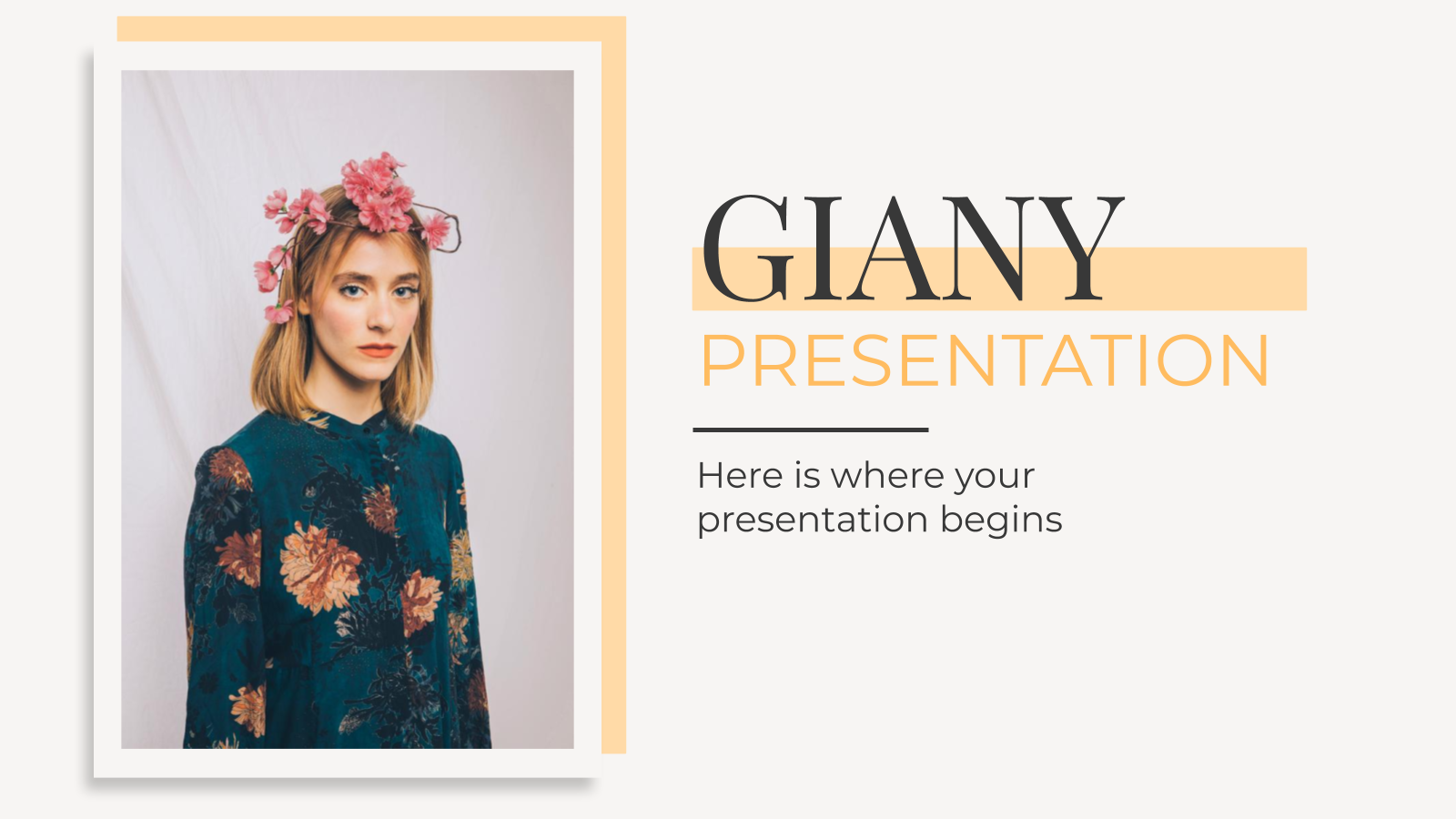Giany presentation template