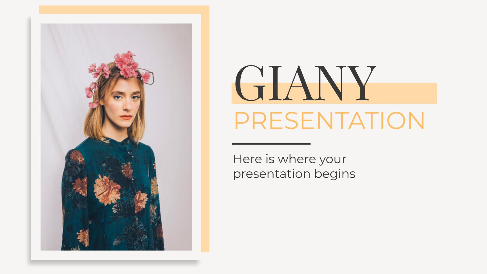 Modelo de apresentação Giany