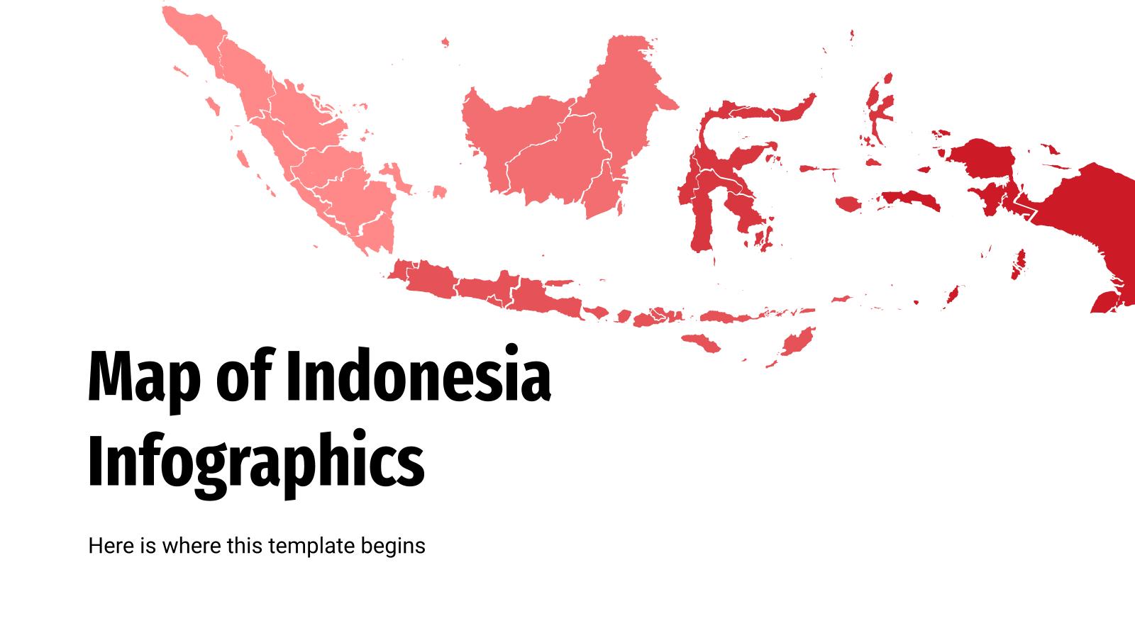 Infographies de carte de l'Indonésie : Modèles de présentation