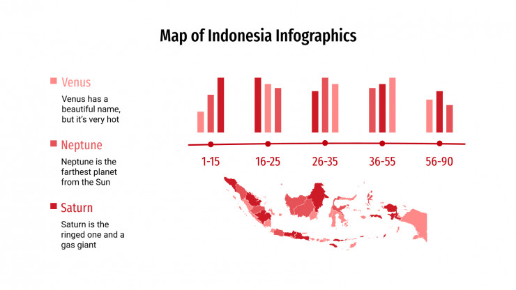 Map of Indonesia Infographics presentation template
