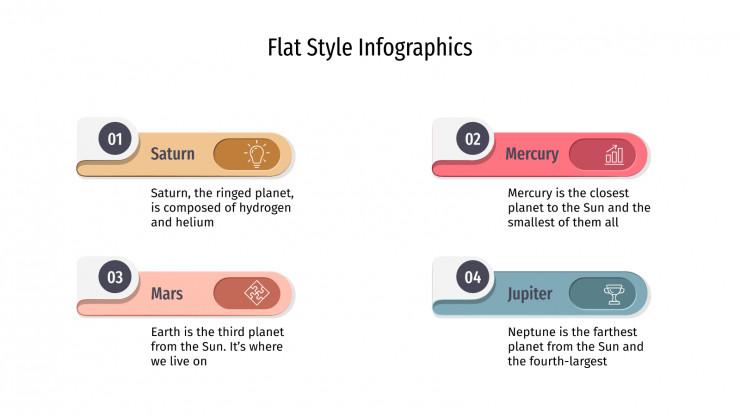 Modelo de apresentação Infográficos bidimensionais