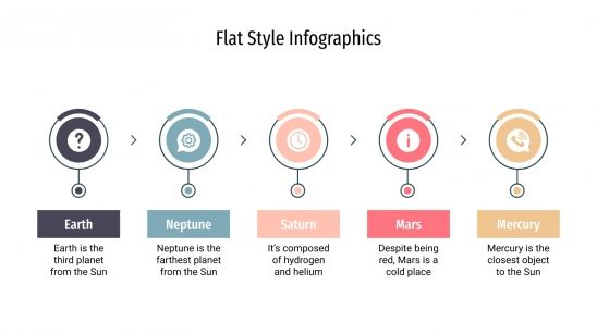 Plantilla de presentación Infografías con estilo flat