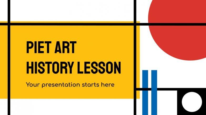 Modelo de apresentação Aula de história da arte Piet