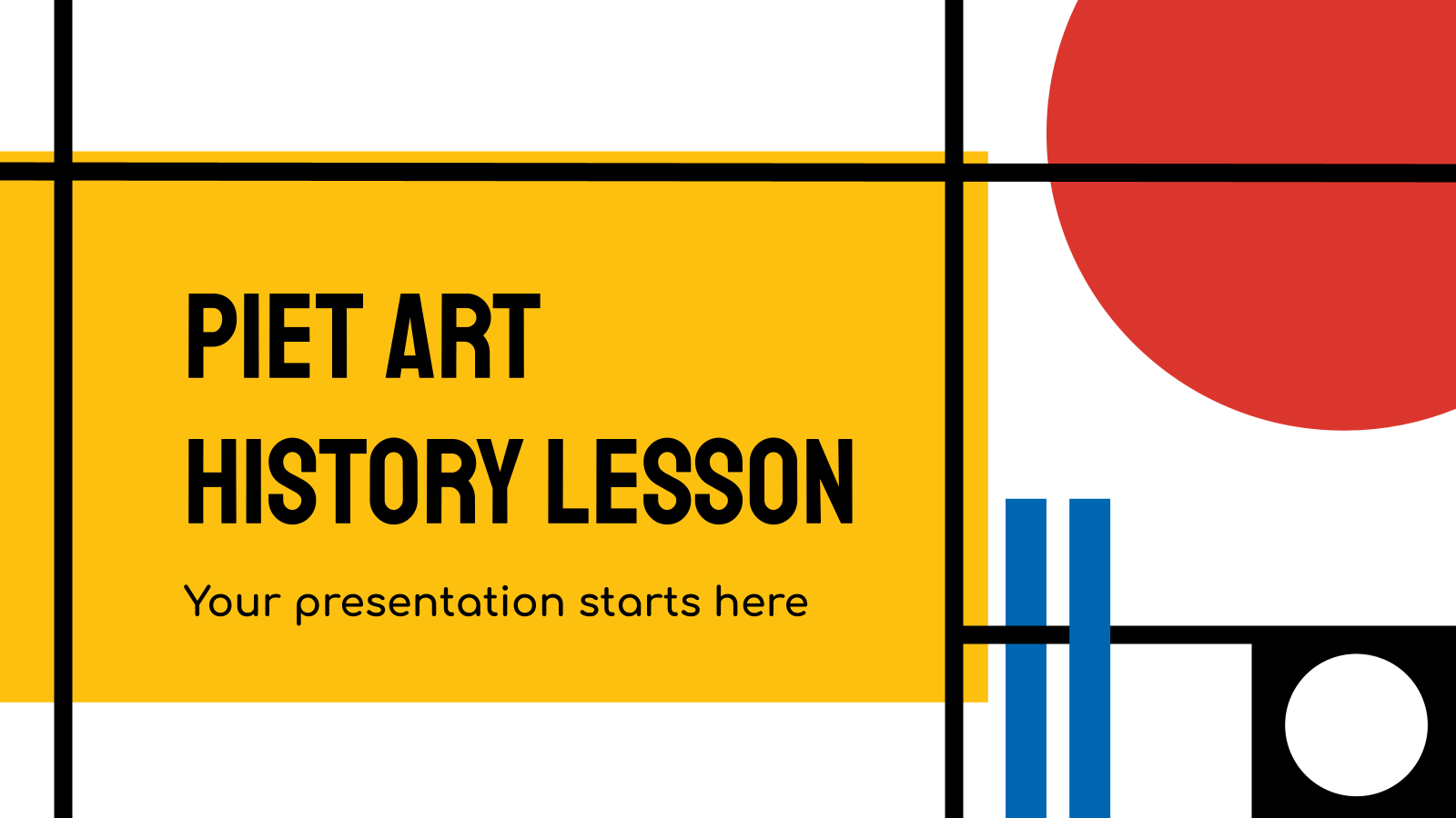Piet Art History Lesson presentation template