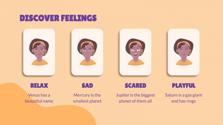 Emotions Flashcards presentation template