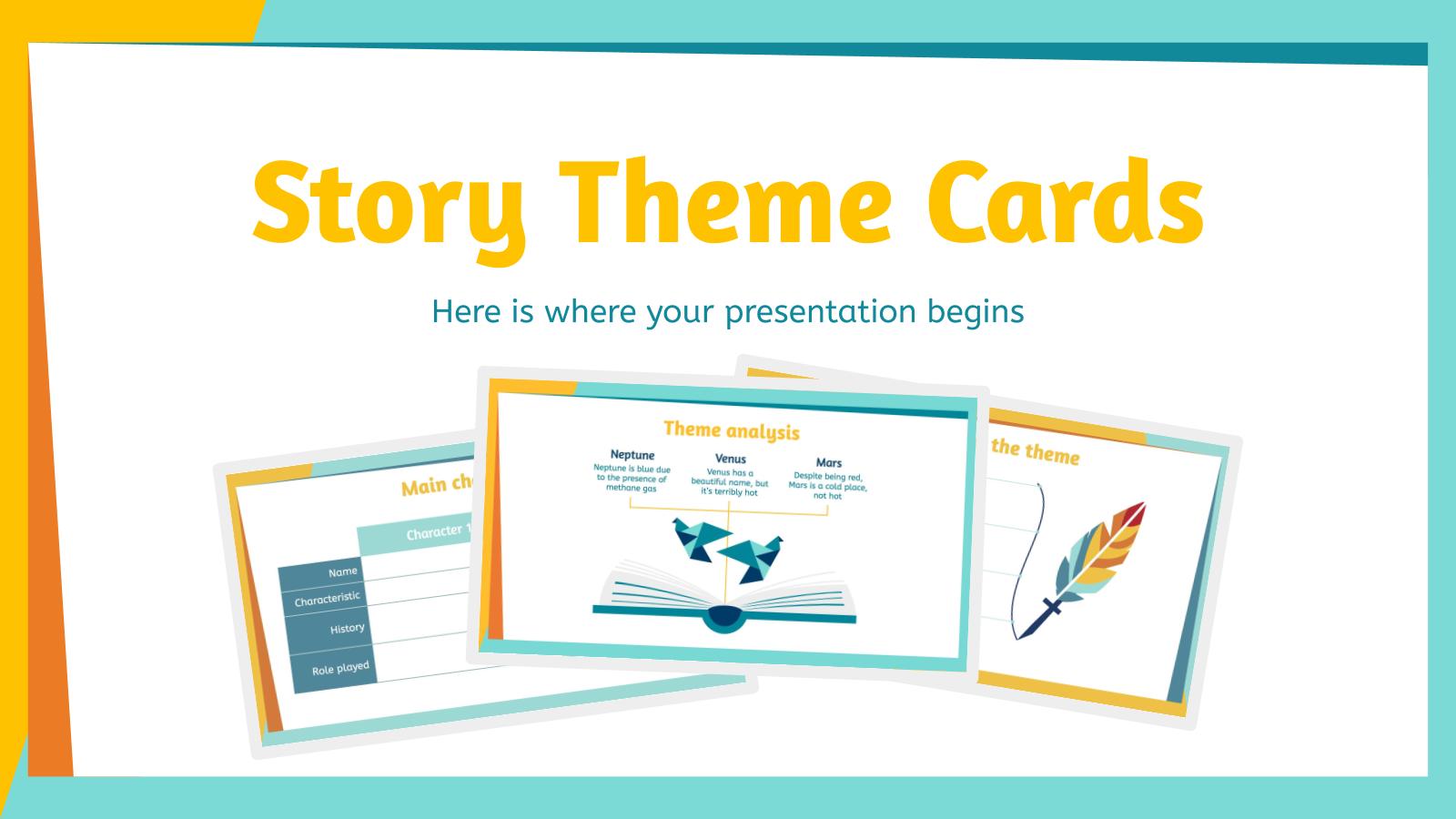 Story Theme Cards presentation template