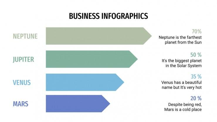Plantilla de presentación Infografías de negocios