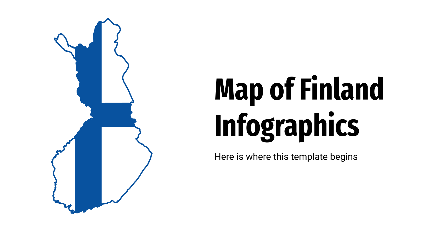 Map of Finland Infographics presentation template