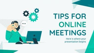 Modelo de apresentação Dicas para reuniões online