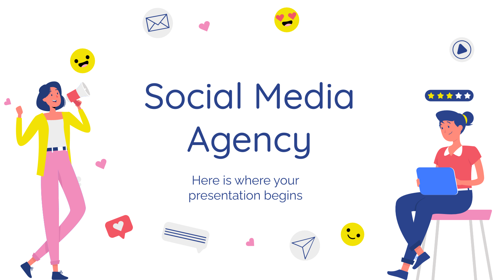 Social Media Agency presentation template