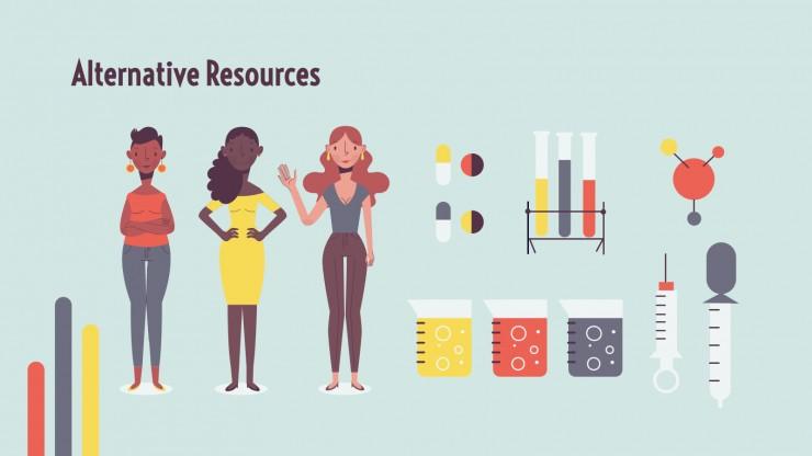 Women in Science presentation template
